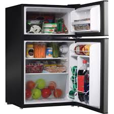 Galanz 3 1 Cu Ft Compact Refrigerator Double Door Black Walmart Com