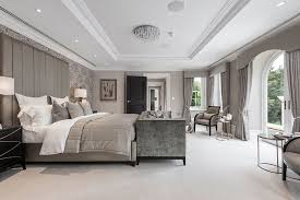 mansion master bedrooms. Exellent Bedrooms Elegant Classic Contemporary Master Bedroom Suite In Luxurious Surrey  Mansion Subtle Grey Tones With Full Height Upholstered Headboard Designed By  To Mansion Master Bedrooms A