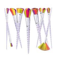 colourful make up brushes set lover bar 10pcs