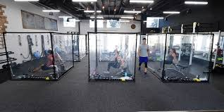 gym debuts workout pods made from