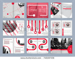 brochure template book cover design le sheet abstract position with images red