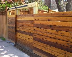 Modren Wood Fence Gate Plans With Sliding Inside Decor