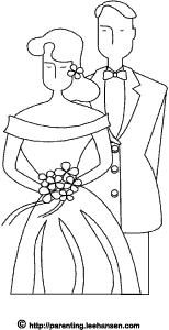 Kleurplaat Bruidspaar En Bruiloft Hobbyblogonl