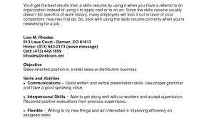 Proper Format For A Resume With Resume Key Skills Examples Examples