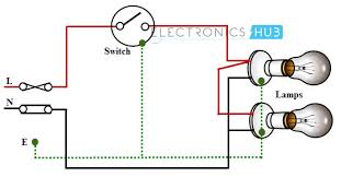 electrical wiring systems and methods of electrical wiring two blubs are controlled by a one way switch
