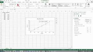 excel 2016 ter chart with a trendline