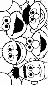 Coloring Pages Of Sesame Street Characters 12623 Bestofcoloringcom