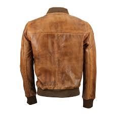 new mens soft real leather er jacket vintage
