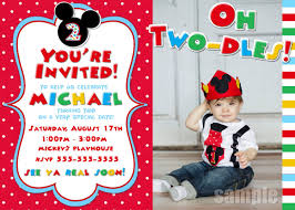 Mickey Mouse Clubhouse 2nd Birthday Invitations Mickey Mouse Clubhouse Birthday Party Invitation Free