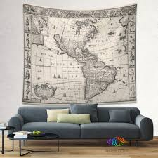 vintage america map wall tapestry vintage world london art hanging old d e b ad large