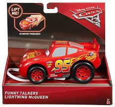 com disney pixar cars 3 funny talkers lightning mcqueen vehicle toys