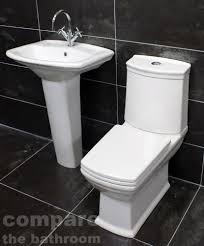 diana art deco style bathroom suite basin sink toilet wc set soft close seat