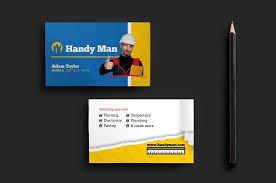 handyman business handyman business card template business card templates