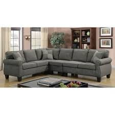furniture of america herena linenlike lshaped sectional convertible sectional sofa i76
