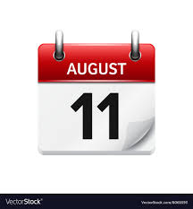 Daily Picture Calendar August 11 Flat Daily Calendar Icon Date
