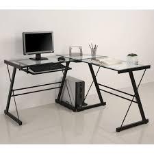 glass corner desk jh design black glass top corner