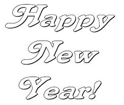 Small Picture Happy New Years Party Decoration Coloring Page Download Print