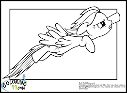 Rainbow Dash Coloring Page Rainbow Dash Party My Little Pony