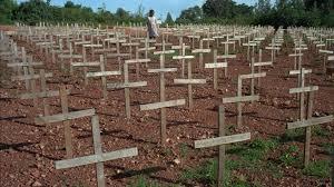 records of i arms s during rwandan genocide to remain a young rwandan girl walks through nyaza cemetery outside kigali rwanda on monday