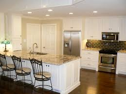 White Or Wood Kitchen Cabinets Off White Kitchen Cabinets With Light Floors 12504420170427