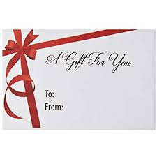 Gift Cards For Christmas