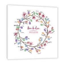 <b>Wedding</b> Thumbprint <b>Wreath Guest</b> Book Alternative - Family ...