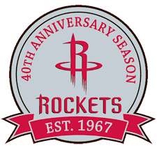 Houston Rockets Anniversary Logo - National Basketball Association ...