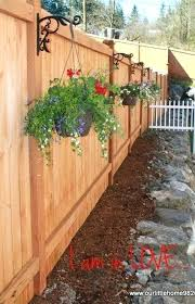 flower boxes for fences our little home update our garden side yards  backyard and yards planter
