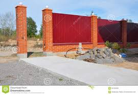 Small Picture Building New Metal Fence With Door Gate Of Modern Style Design