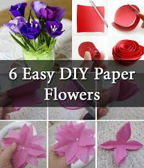6 Easy Diy Paper Flowers Diy Creative Ideas Flower Crafts Diy