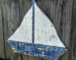 more colors rustic sailboat nautical decor  on wood boat wall art with sailboat wall art etsy