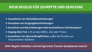 Check spelling or type a new query. Corona Schutzmassnahmen Erleichterungen Fur Geimpfte Und Genesene