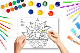 Free printable coloring pages for kids! Color By Number Flowers Coloring Pages For Kids