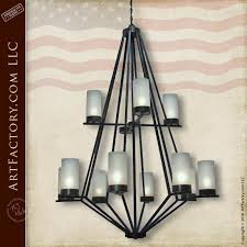 contemporary wrought iron chandelier custom hand forged lighting lc502