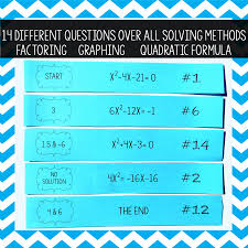 this would be such a fun activity for my algebra students to review solving quadratic equations