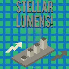 Stellar Stock Chart Text Sign Showing Stellar Lumens Conceptual Photo