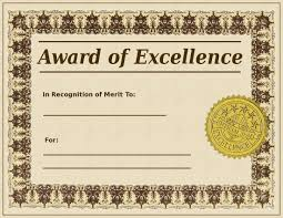 Award Of Excellence Certificate Template Printable Award of Excellence Template Sample for Employee Helloalive 30