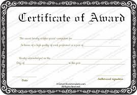 Football Certificate Template Simple Sample Award Certificate Template Kubreeuforicco