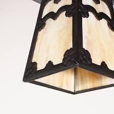 Two Matching Antique Arts  Crafts FlushMount Exterior Light - Flush mount exterior light fixtures
