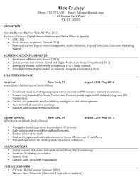 Sample Resume Format For Fresh Graduate Without Work Experience