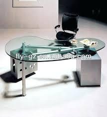 glass office desk furniture modern office furniture curved glass office desk glass office office desk