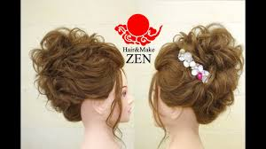 華やかで高めのパーティルーズヘアアレンジzenヘアセット96 Party Hair Arrange Tutorial