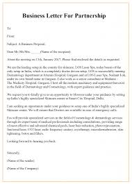 How To Write A Business Letter For Partnership Business Letter