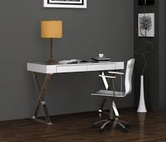 Aqua White Modern Office Desk