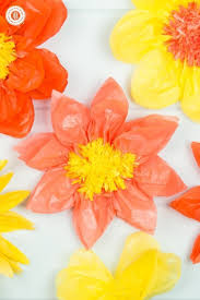 How To Make Flower Out Of Tissue Paper Giant Tissue Paper Flowers How To Make A Paper Flower