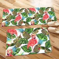 flamingo pineapple green leaves design area rugs bedroom living room floor mat