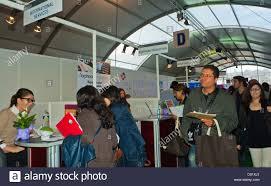 Paris France People At Paris Jobs Fair Job Hunters Looking At