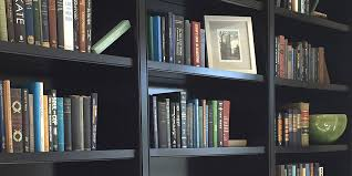 black bookcase wall unit 4