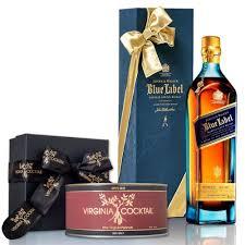 johnnie walker blue label blended scotch whisky with sea salt peanuts set 750ml plementary elegant packaging