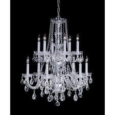 crystorama lighting group traditional crystal polished brass twelve light crystal chandelier hover to zoom